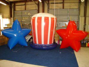 patriotic shape helium balloons